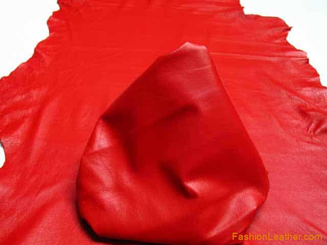 Standard Red | Buy Leather Hides Online | Fashion Leather